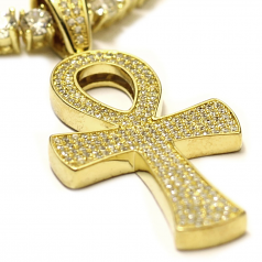 Tennis Necklace and CZ Ankh
