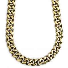Gold Plated XL Cuban Link Curb Chain 12mm x 38 inches High Quality