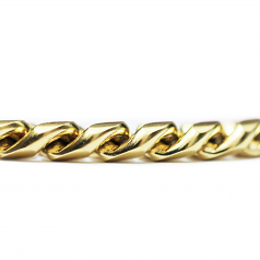 Miami Cuban Curb Link Chain 18KT Gold Plated 10mm by 30 Inches