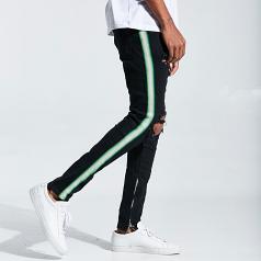 Embellish NYC Bolt Standard Denim Jeans Ripped Black