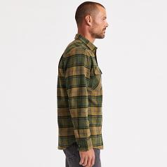 Brixton Bowery Flannel Long Sleeve Shirt Evergreen