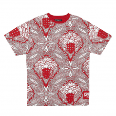 Crooks & Castles Bandito Paisley All Over Print Tee Red
