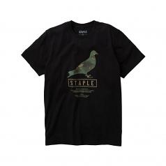 Staple Pigeon Wire Camo Pigeon T-Shirt Black