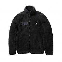 Staple Pigeon Sherpa Zip Jacket Black
