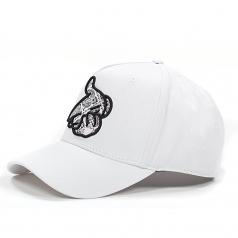 Crooks & Castles Paisley Logo Airgun Snapback Cap White