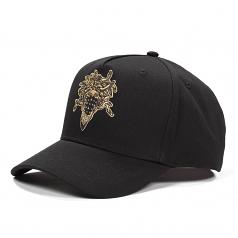 Crooks & Castles Bandusa Snapback Cap Black