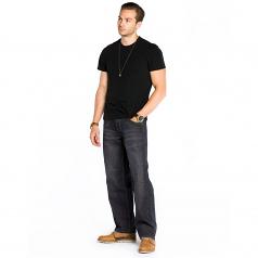 Royal Blue 8207 Men's Relaxed Fit Denim Jeans Black
