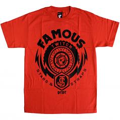 Famous Stars & Straps Js Thunder T-Shirt Red/Black Twitch