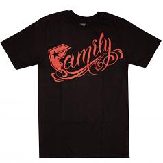 Famous Stars & Straps Family Premium T-shirt Black/Red